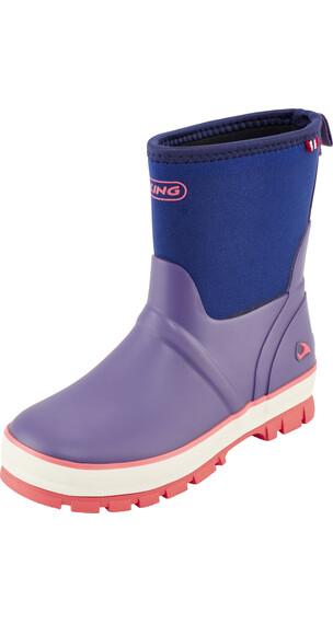 Viking Footwear Solan Neo Gummistøvler Børn violet/blå